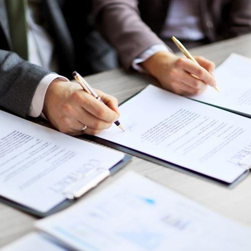 Contrat des affaires